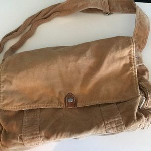 Fossil Corduroy Messenger Bag